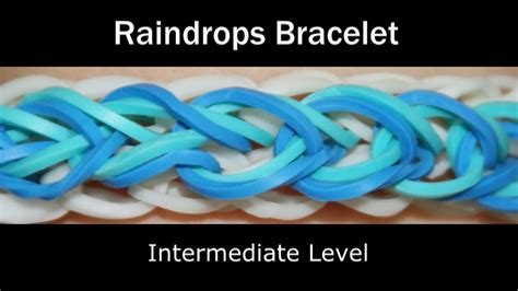 rainbow loom raindrops bracelet youtube