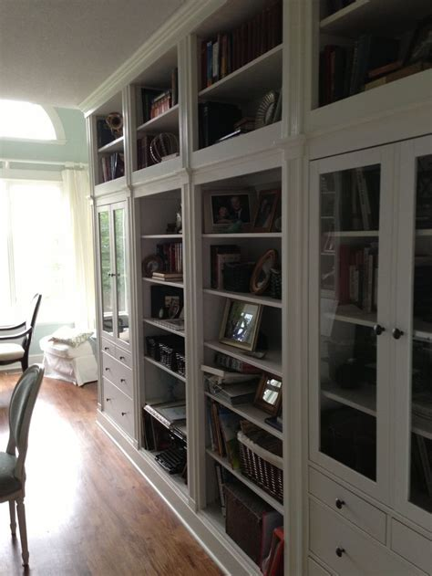 Ikea Hack Hemnes Bookcase by Our Hemnes Ikea Hack Another View Home Office