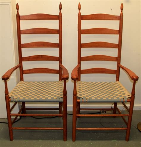 Ladder Back Arm Chairs With Seats by Ladder Back Rocking Chairs Rocking Chair Georgian Ladder
