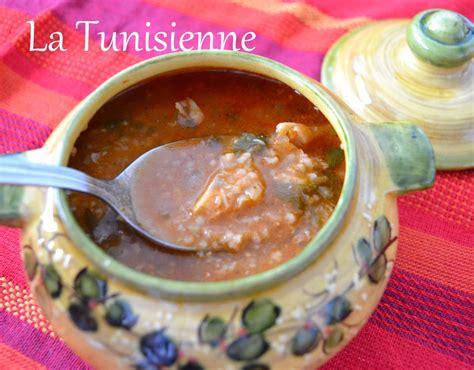 cuisine tunisienne chorba chorba frik au poisson