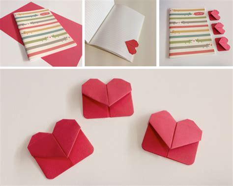 diy cute heart origami bookmark beesdiycom