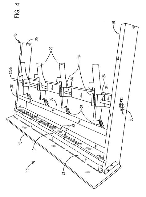 patent  automatic reset target plate rack