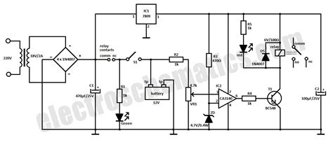 Automatic Battery Charger Circuit