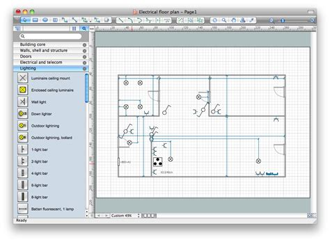 electrical diagram drawing software interior design office layout plan design element