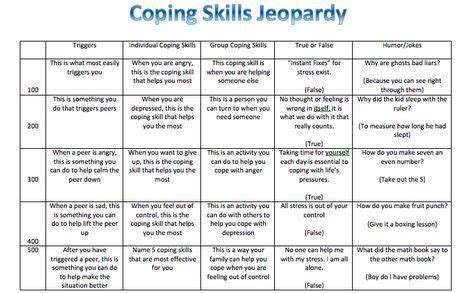 coping skills jeopardy  group loved    played