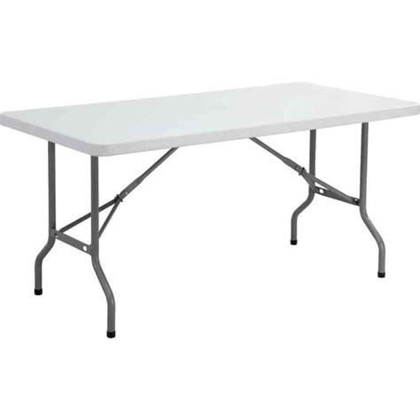 table de bureau pliante table pliante ycz 152 en plastique gris clair achat