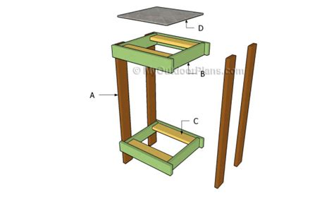 plans  building  plant stand  woodworking