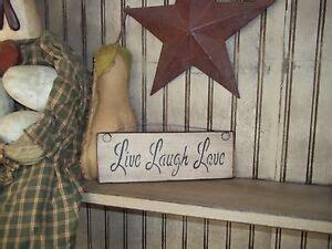 Wood Sign Live Laugh Love Prim Handmade Rustic Country