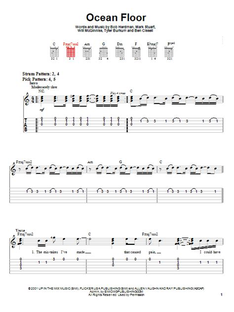 Audio Adrenaline Floor Chords by Floor By Audio Adrenaline Easy Guitar Tab Guitar