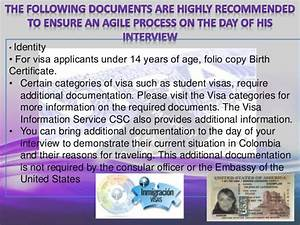 exposicion ingles With documents required for b2 visa