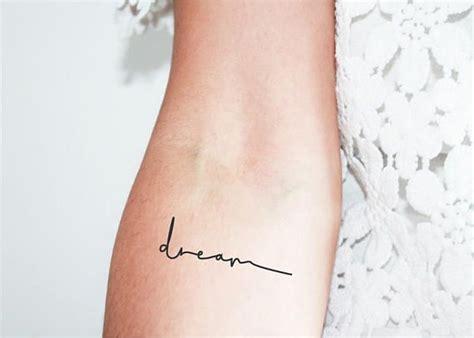 set   dream temporary tattoos quote tattoo