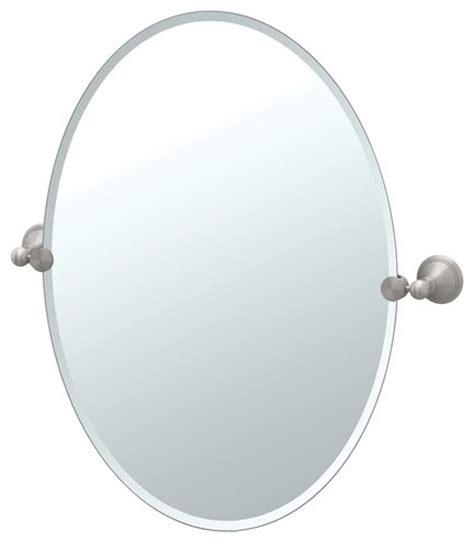 Tilting Bathroom Mirror Polished Nickel by Laurel Ave Tilting Beveled Oval Wall Mirror Modern