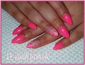 Ongles En Gel Rose : ongles en gel rose fluo deco ~ Melissatoandfro.com Idées de Décoration