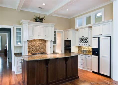 white kitchen wood island pictures of kitchens traditional white kitchen cabinets page 6