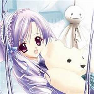 Anime Little Girl Holding A Teddy Bear Pictures, Images ...