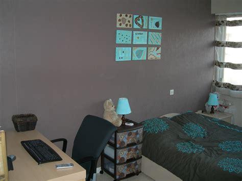 chambre noir et turquoise déco chambre grise et turquoise