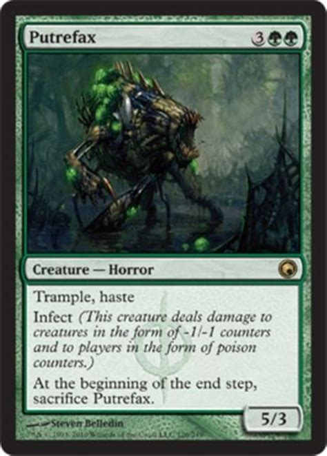 details about mtg green infect deck rot wolf magic the