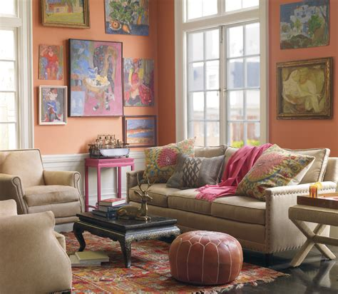Ethnic Living Room  Decorator's Notebook Blog