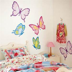 wall decals for girls room 2017 grasscloth wallpaper With butterfly wall decals