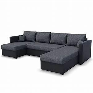 Schlafsofa 140 Cm : xxl schlafsofa in grau schwarz stellma 290 x 185 cm liegefl che 270 x 140 cm sofa couch ~ Frokenaadalensverden.com Haus und Dekorationen