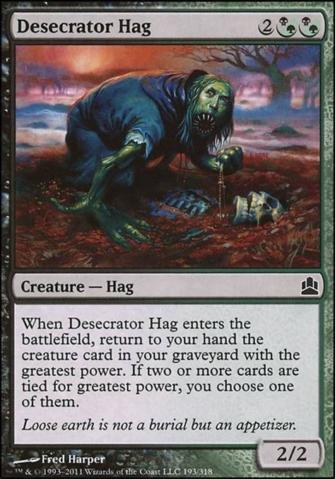 Commander Deck Animar Tapped Out by Desecrator Hag Cmd Mtg Card