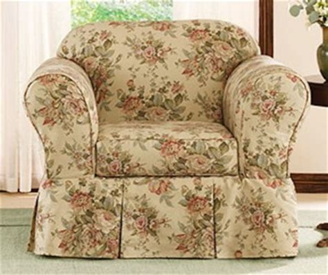 new sure fit sofa arm chair slipcover floral larchmont ebay