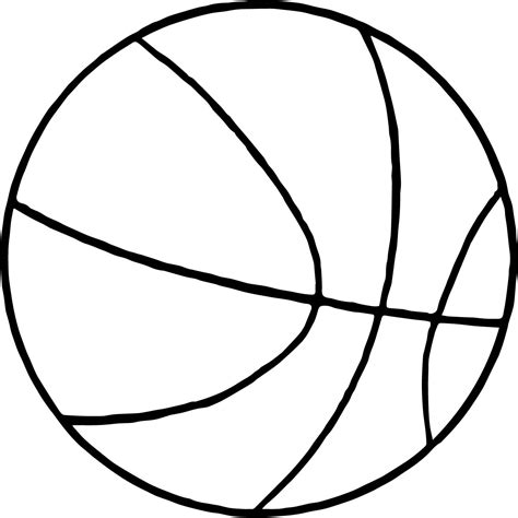 thin basketball ball coloring page wecoloringpagecom
