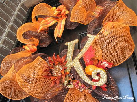 Notions From Nonny Easy Deco Mesh Fall Wreath Tutorial