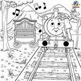 Thomas Coloring Train Pages Percy Friends Tank Engine Colouring Activities Christmas Musical Reward Trains Games Instrument Calliope Activity Cute Fun sketch template