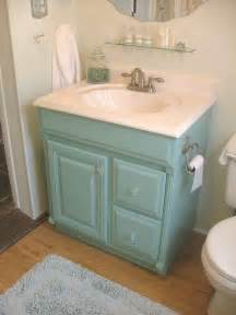 painted aqua bathroom vanity cottage