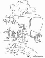 Cart Coloring Bullock Road Trip Standing Bestcoloringpages Sketch Grease Drawing Easy Printable Roads Lightning Sheets Getcolorings Cross Step Children Template sketch template