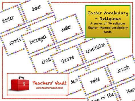 Easter Vocabulary Religious Easter Teaching Resources