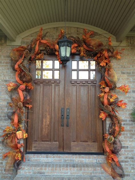 double door wreaths ideas  pinterest entry