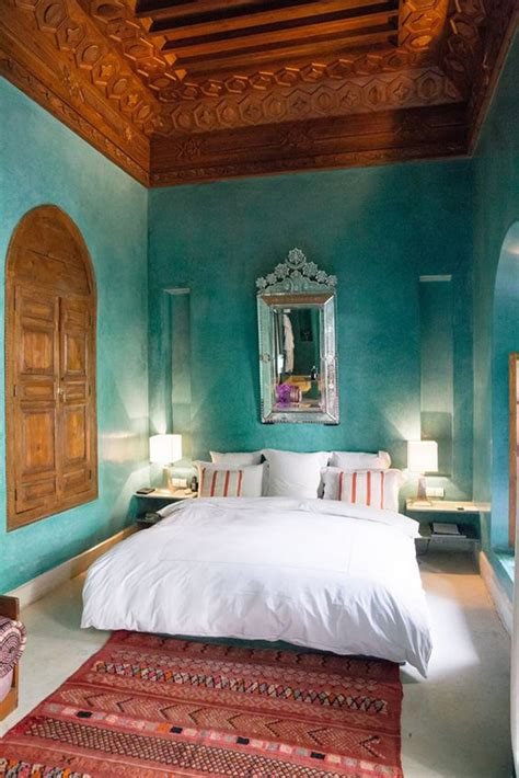 ethnic moroccan bedroom  modern patterns home