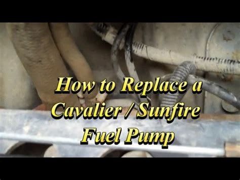 98 Cavalier Fuel Filter Removal by How To Change The Fuel On A Chevy Cavalier Or Pontiac