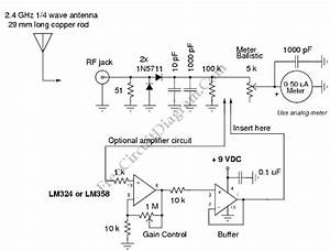 2 4 Ghz Field Strength Meter Circuit With Optional