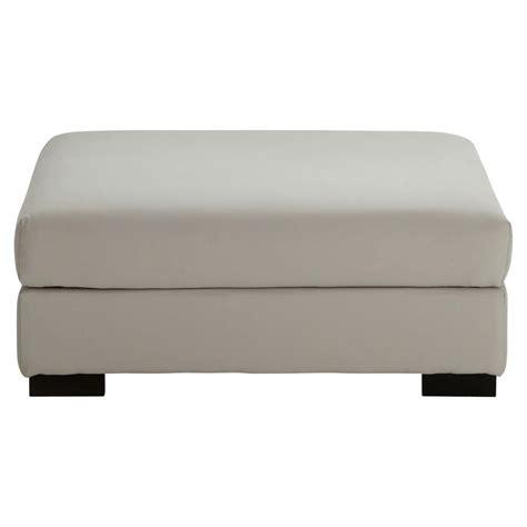 pouf de canapé modulable en coton gris clair terence