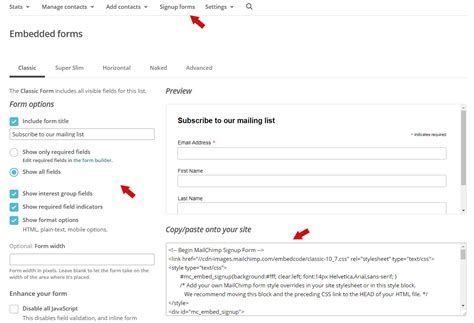 Mailchimp Embed Signup Form by How To Add Mailchimp Newsletter Subscription Form