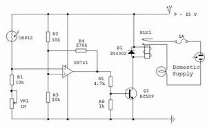 Light Dependent Switch Using Orp12 Photocell