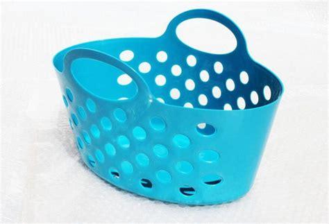 plastic baskets  handles storage baskets teal