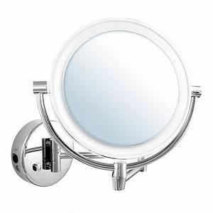miroir grossissant 5 x lumineux pivotant mural achat With miroir grossissant mural pour salle de bain