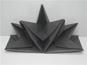 Serviette De Noel En Papier : serviette papier prepliee pliage etoile noire etui de 12 ~ Melissatoandfro.com Idées de Décoration