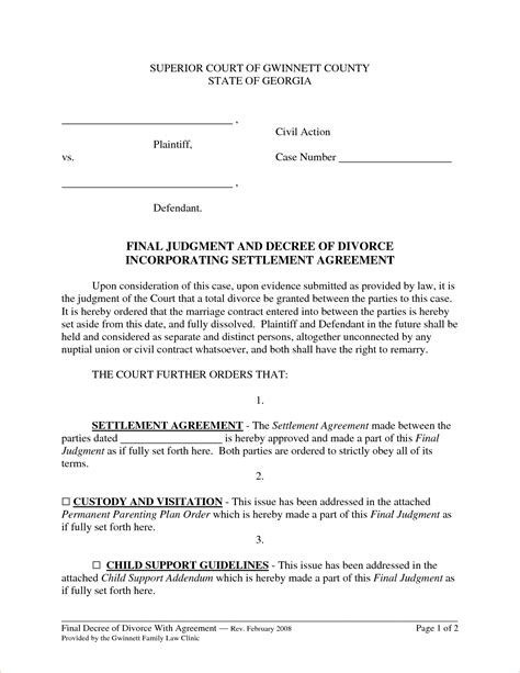 divorce agreement template south africa 6 divorce settlement agreement slereport template
