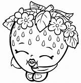Strawberry Coloring Pages Shoppies sketch template