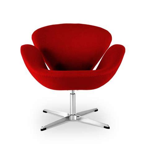 Stuhl Arne Jacobsen by Arne Jacobsen Schwan Stuhl In Rot 452 00