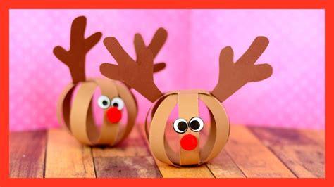 paper ball reindeer craft fun christmas craft  kids