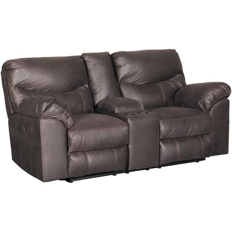 Power Reclining Loveseat by Boxberg Teak Power Reclining Console Loveseat 3380396