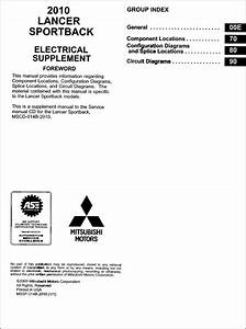 2010 Mitsubishi Lancer Sportback Electrical Wiring Diagram