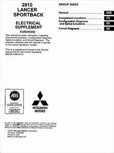 2004 Mitsubishi Lancer Sportback Wiring Diagram Manual Original