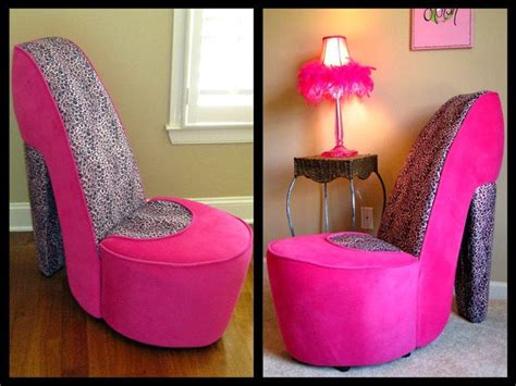pink leopard high heel chair high heel chairs